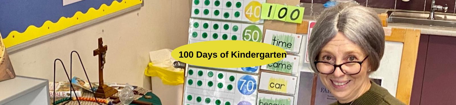Kindergarten celebrating 100 days of school – July 2021